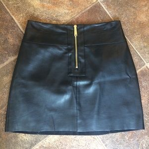 Express Black Faux Leather Mini
